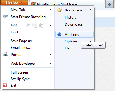 Firefox Disable Flash