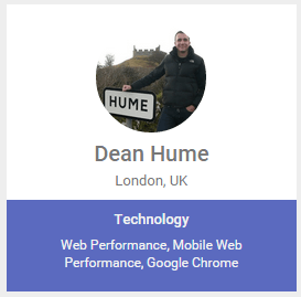 Dean Hume Google Developer Expert