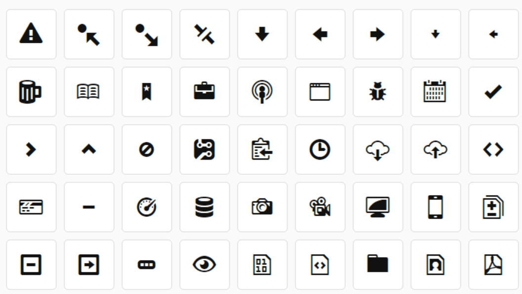 Octicons Icon pack Github