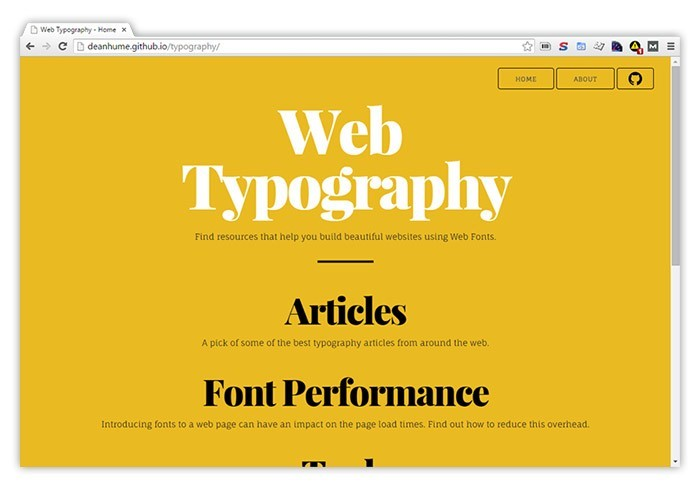 Web Fonts and Typography