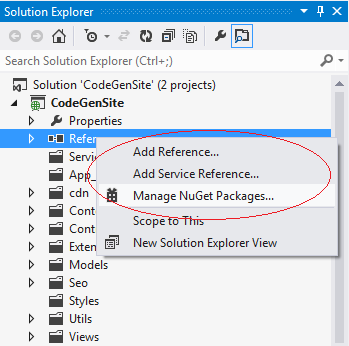 Add References Visual Studio 2012
