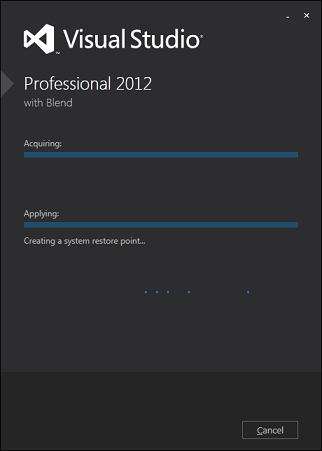Visual Studio 2012 Install