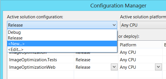 """Visual Studio Configuration Manager New"""